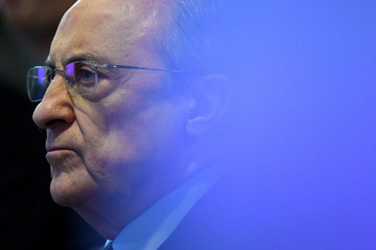 """O presidente do Real Madrid, Florentino Perez, é o mandatário inicial da """"Superliga"""" (Foto: GABRIEL BOUYS / AFP)"""