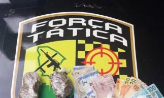 Material encontrado pela Polícia Militar com jovem de 26 anos, preso em flagrante na Aldeota