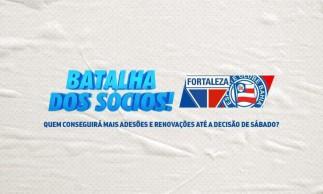 Fortaleza e Bahia fizeram desafio para saber quem consegue mais assinaturas de sócios até a data do duelo entre as equipes, próximo sábado, 24, pela semifinal da Copa do Nordeste