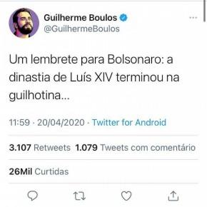 """PF intima Boulos por publicação nas redes sociais após avaliar suposta """"ameaça"""" a Bolsonaro"""