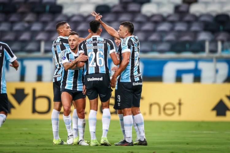 O Grêmio venceu o La Equidad-COL na estreia da Sul-Americana por 2 a 1 (Foto: Lucas Uebel / Grêmio FBPA)