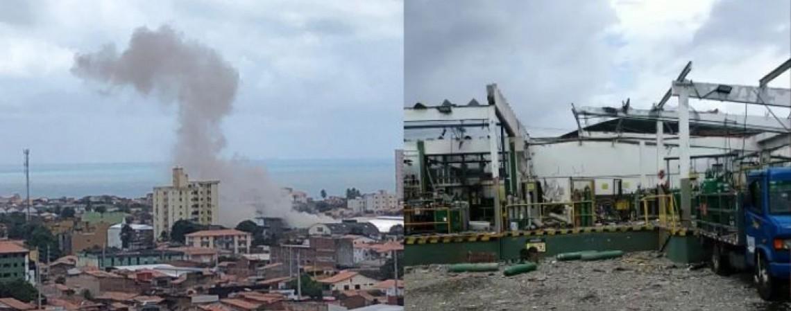 A explosão pôde ser sentida de bairros mais afastados (Foto: Reprodução)