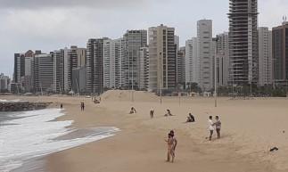 Movimentação na Beira Mar é fraca, mas ainda existente durante o isolamento social rígido.