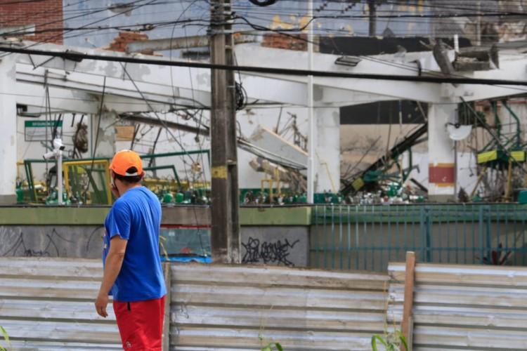 Explosão na fábrica da White Martins, em Fortaleza (Foto: Bárbara Moira)