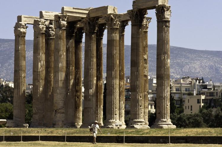 Ruínas do Templo de Zeus, em Olímpia, sede dos Jogos Olímpicos da Antiguidade