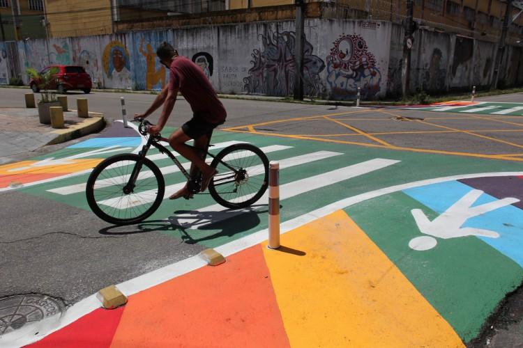 Desde 2018, a Capital promove diversas ações de urbanismo tático, conceito que prevê a reestruturação dos espaços públicos de modo a aproximar a população e resolver problemas locais (Foto: FABIO LIMA)