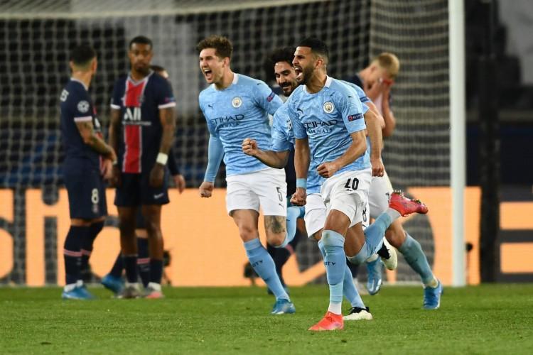 O Manchester City venceu o PSG fora de casa por 2 a 1 pelo jogo de ida das semifinais da Champions League 2020/2021 (Foto: Reprodução/Twitter/Manchester City)