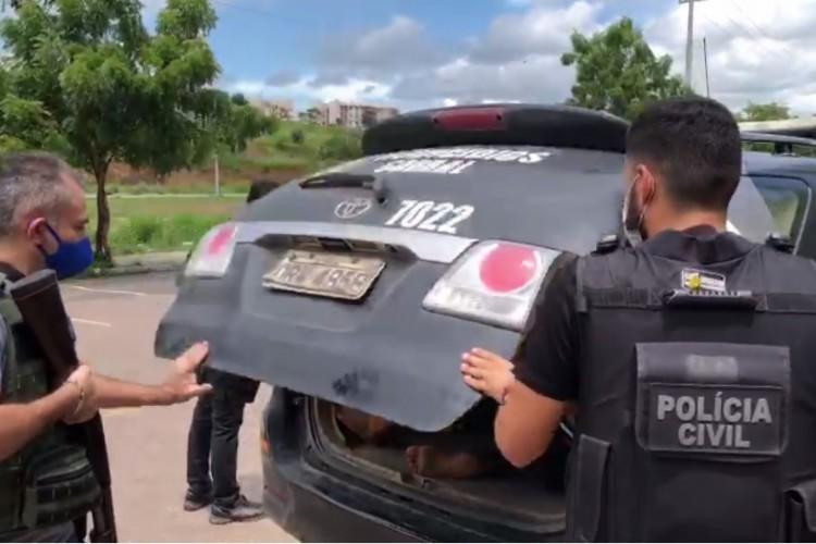 O homem cometeu um homicídio em Horizonte, fugiu e realizou o mesmo crime meses depois em Sobral, onde foi preso  (Foto: Divulgação/SSPDS)