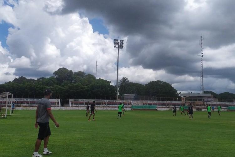 Caucaia se reapresentou para os treinos na manhã desta quarta-feira, 28 (Foto: Divulgação/ Caucaia EC / Twitter)
