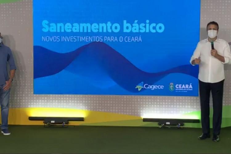 O anúncio foi feito pelo governador Camilo Santana (PT) e o secretário das Cidades, Zezinho Albuquerque.  (Foto: Divulgação/Governo do Estado)