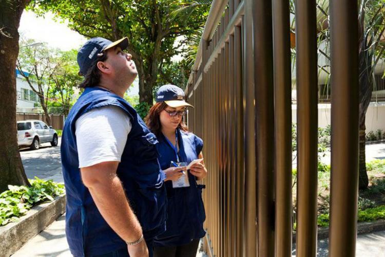 recenseadores e agentes censitários do IBGE (Foto: Licia Rubinstein/Agência IBGE Notícias)