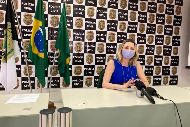 Informações foram divulgadas nesta quarta-feira,28, pela delegada Patrícia Sena, titular da 1ª delegacia do Departamento de Homicídios e Proteção à Pessoa (DHPP). (Foto: Angélica Feitosa/ O POVO)