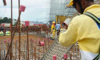Rio de Janeiro - O prefeito Eduardo Paes inaugura sala de visitação do Museu do Amanhã, em construção no Pier Mauá, na zona portuária do Rio. Na foto o canteiro de obras do Museu do Amanhã.