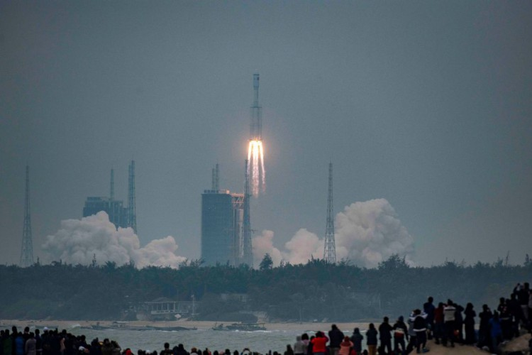 China lança módulo principal da sua 1ª estação espacial permanente (Foto: )
