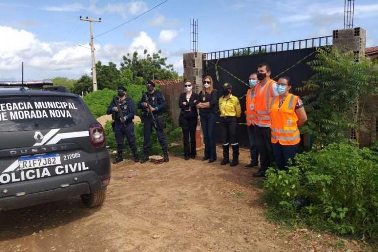 Policiais interditaram o local  (Foto: SSPDS/Reprodução)