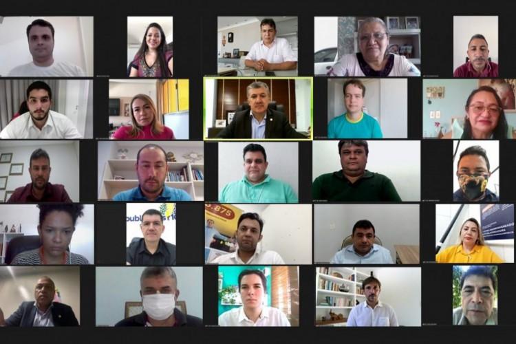 Vereadores aprovaram mudanças no Orçamento que destinam mais recursos para o combate dos efeitos da pandemia em Fortaleza (Foto: REPRODUÇÃO/REDES SOCIAIS)