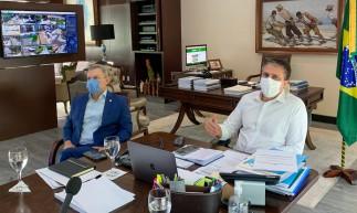 Governador Camilo Santana e prefeito José Sarto em reunião