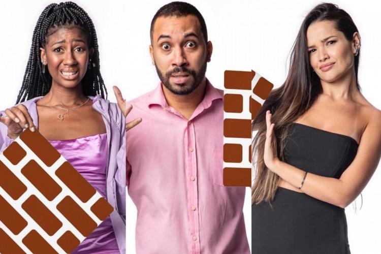 Um será eliminado e os outros dois segue para a final junto do cantor Fiuk (Foto: Reprodução/Tv Globo)