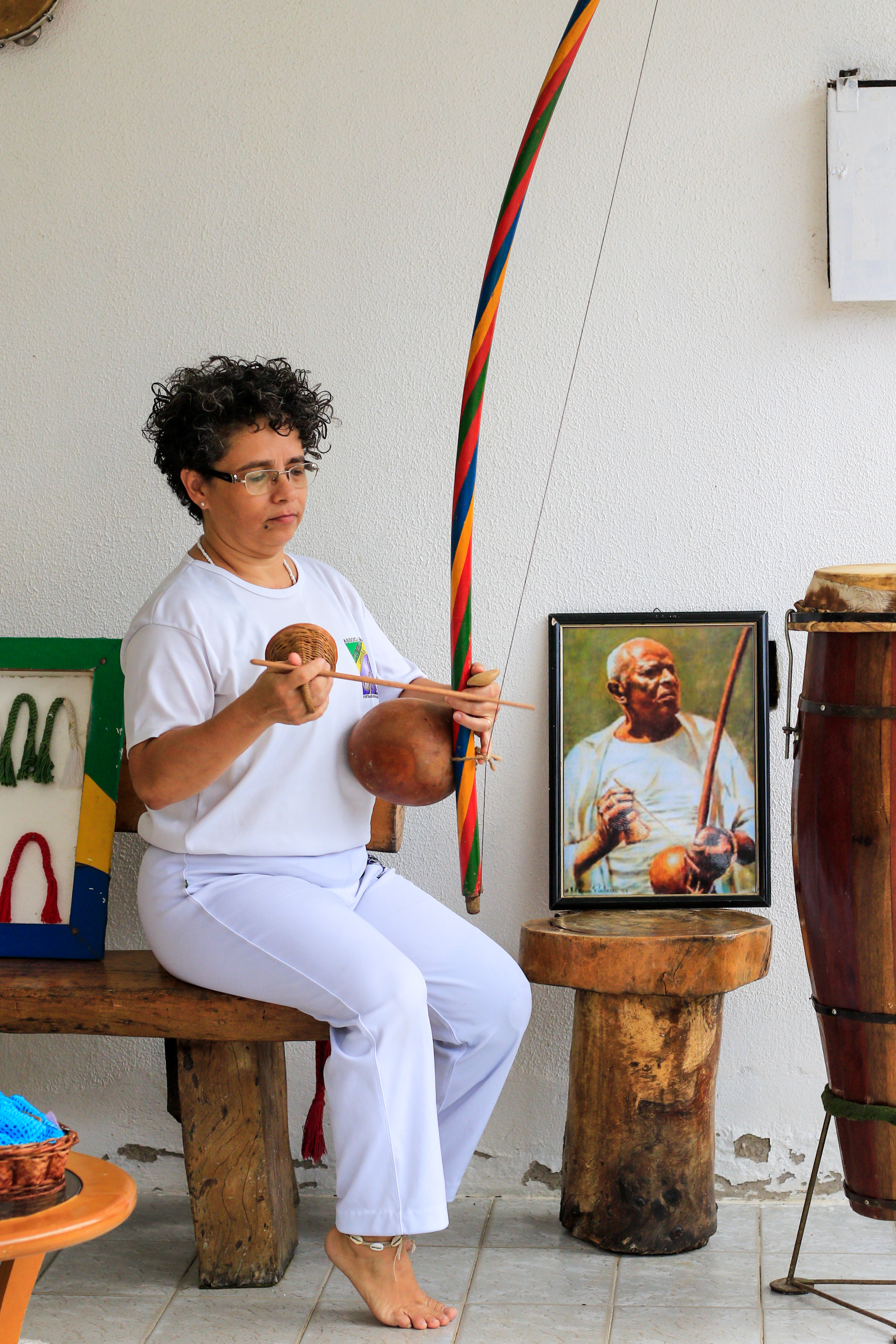 Mestra Carla, capoeirista há mais de 30 anos, compõe a Associação Zumbi Capoeira,  importante polo da arte na cidade hoje. (Foto: BARBARA MOIRA)