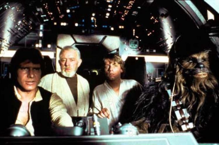 O primeiro filme de 'Star Wars' teve Alec Guinness, Mark Hamill e Harrison Ford no elenco