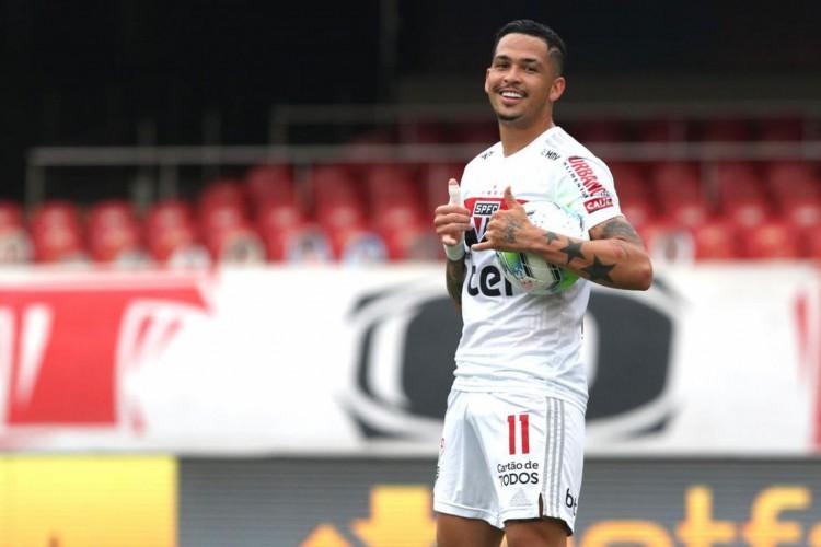 Com gol de Luciano, São Paulo arranca empate com Corinthians (Foto: Rubens Chiri)