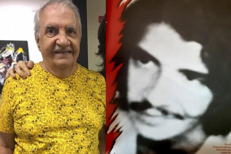 Brandão em 2018, em foto cedida por Mona Gadelha (esquerda) e Brandão no making of do filme