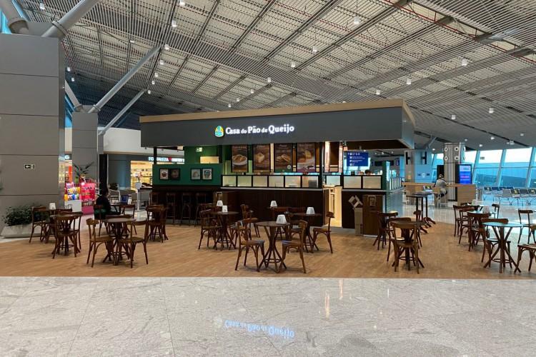 Quiosque da Casa do Pão de Queijo no Aeroporto de Fortaleza (Foto: Divulgação)