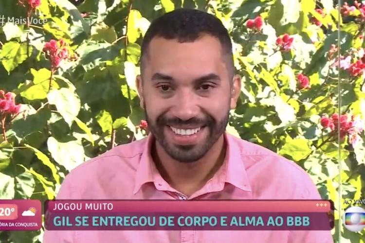 Gilberto ficou feliz com o carinho e afirmou que Juliette deve vencer o programa (Foto: Reprodução/Tv Globo)