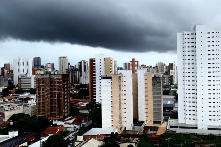 Fortaleza na manhã desta terça-feira, 4 de maio (Foto: Demitri Túlio)