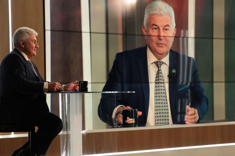 O ministro da Ciência e Tecnologia, Marcos Pontes, participa do programa Sem Censura,  na TV Brasil (Foto: Marcello Casal JrAgência Brasil)