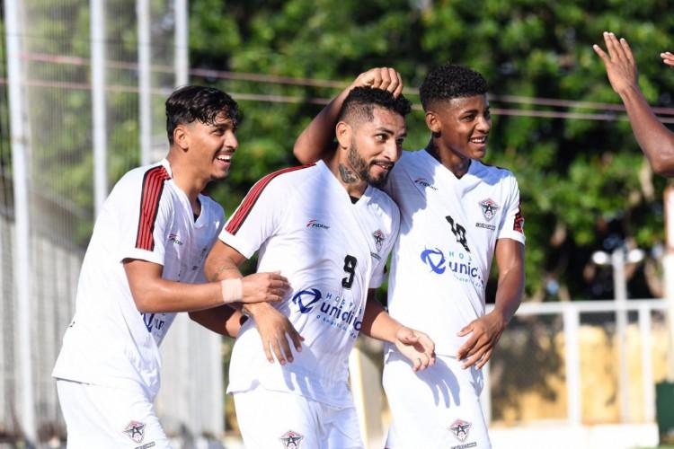 Atlético Cearense goleou o Caucaia em 6 a 0 no Campeonato Cearense.  (Foto:  Kely Pereira / FC Atlético Cearense)