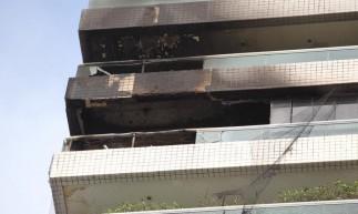 Fogo em edifício na Beira-Mar nesta quinta-feira, 6, foi controlado