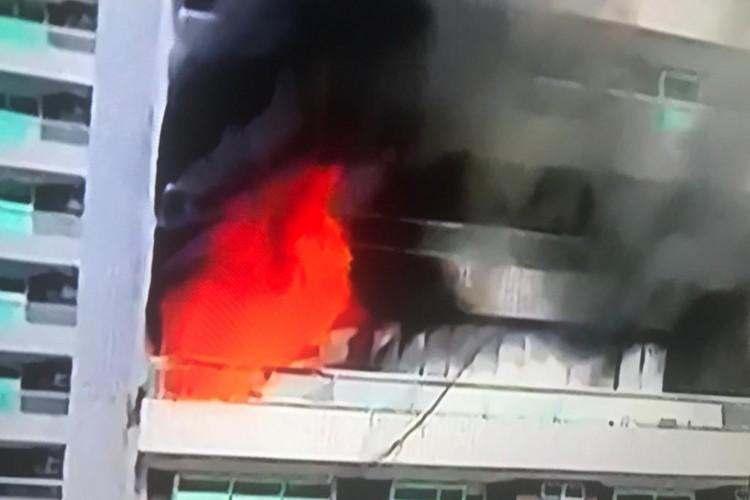 Incêndio no Mucuripe (Foto: Reproduçao de TV)