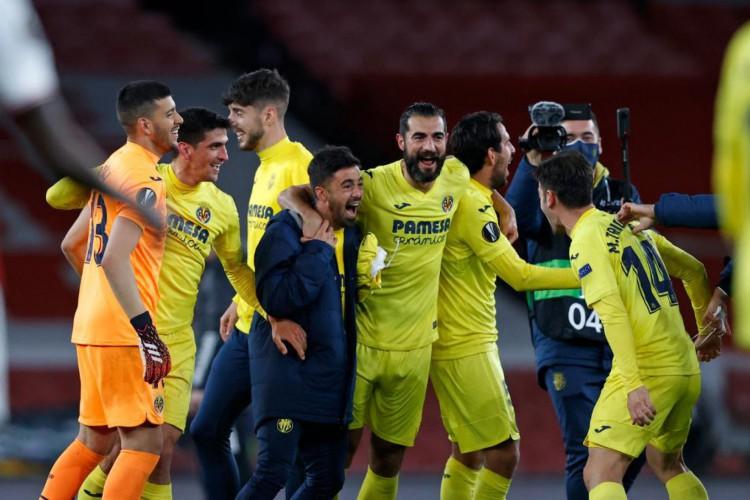 O Villarreal superou o Arsenal e está na final da Liga Europa 2020/2021. O Submarino Amarelo terá o Manchester United como adversário na decisão (Foto: Reprodução/Twitter/Liga Europa)