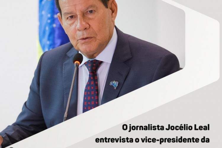 Vice-presidente do Brasil Hamilton Mourão participada de entrevista na rádio O POVO CBN nesta sexta (Foto: Reprodução)