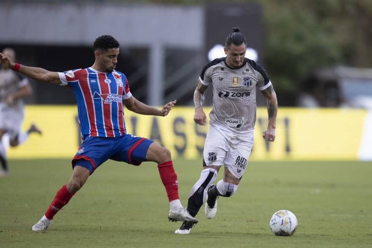 Bahia e Ceará jogam hoje pela final da Copa do Nordeste 2021; veja como assistir à transmissão ao vivo, provável escalação e horário do jogo (Foto: Lucas Figueiredo/ CBF)
