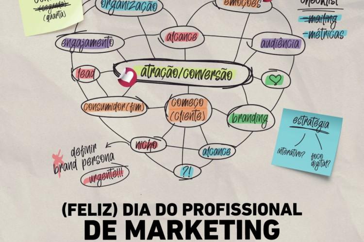 Peça comemorativa do Dia do Profissional de Marketing (Foto: Arquivo/O POVO)