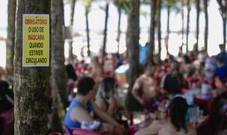 FORTALEZA, CE, BRASIL, 09.05.2021: Barraca America do Sol. Volta das Barracas de Praia aos finais de semana, Barracas na Praia do Futuro. em epoca de COVID-19. (Foto: Aurelio Alves/ Jornal O POVO)
