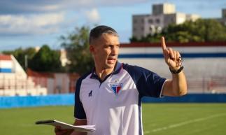 Fortaleza em 10 de maio de 2021, O tecnico Juan Pablo Vojvoda é apresentado do time do Fortaleza, no centro de treinamento do clube, no pici. (Foto Leonardo Moreira / Fortaleza EC)