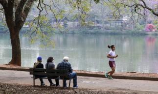 Lazer no Parque do Ibirapuera após a flexibilização do isolamento social durante a pandemia de covid-19.