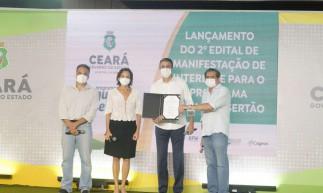 O governador Camilo Santana (PT) lançou nesta quarta-feira, 12, o segundo edital de manifestação do