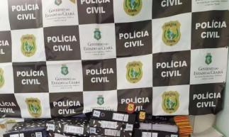 Documentos recuperados pela Polícia Civil em Jaguaruana