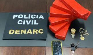 Cinco quilos de maconha são apreendidos em Fortaleza