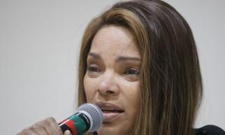 Rio de Janeiro -  A deputada federal Flordelis (PSD) fala sobre a morte de seu marido, o pastor Anderson do Carmo. (Foto:  Fernando Frazão/Agência Brasil)