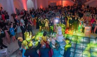 Estabelecimento realiza festas de casamento e 15 anos, por exemplo. *Evento realizado antes da pandemia