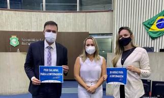 Deputados realizam mobilização para novo piso salarial da enfermagem na Assembleia Legislativa do Ceará