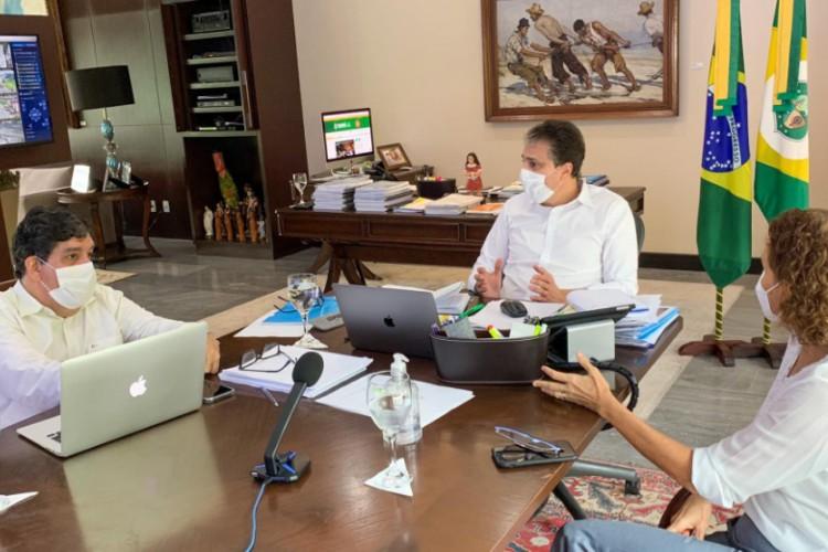 Camilo Santana reúne Comitê de Enfrentamento à Covid (Foto: DIVULGAÇÃO)