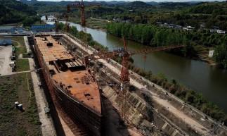 O malfadado Titanic, que naufragou há mais de cem anos, está sendo ressuscitado como a peça central de um parque temático no sudoeste da China