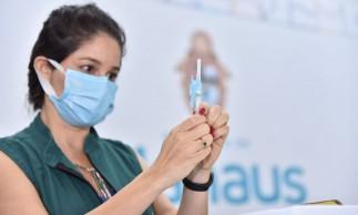 19-01-2021 Prefeitura de Manaus inicia campanha de vacinação contra Covid-19.Fotos: Dhyeizo Lemos / Semcom