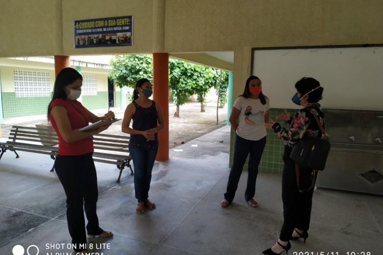 30 escolas foram inspecionadas pelo órgão em Horizonte  (Foto: Divulgação MPCE)